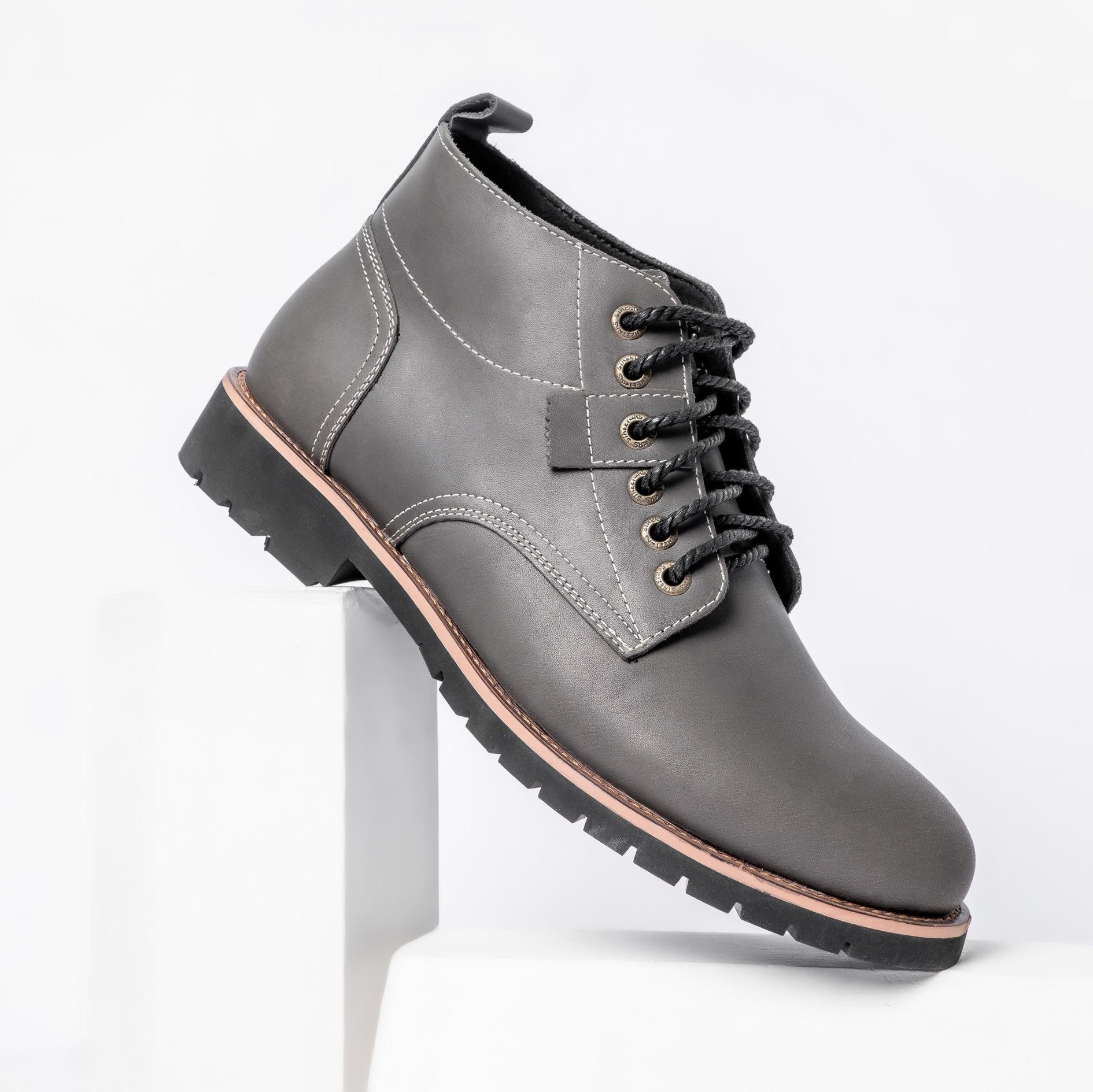 Giày Da Doctor cổ cao Giày boots nam cổ cao Da Bò Tấm Đế Cao Su Êm Cực Bền Kiểu Dáng Hot Nhất Trẻ Trung Năng Động Tăng Chiều Cao