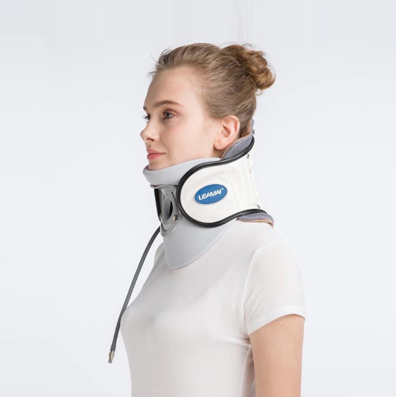 Đai hơi kéo giãn cột sống cổ Leamai C02, hỗ trợ đau cổ và thoát vị đệm cổ. Tặng vòng đeo tay thông minh theo dõi sức khỏe (Giao màu ngẫu nhiên)