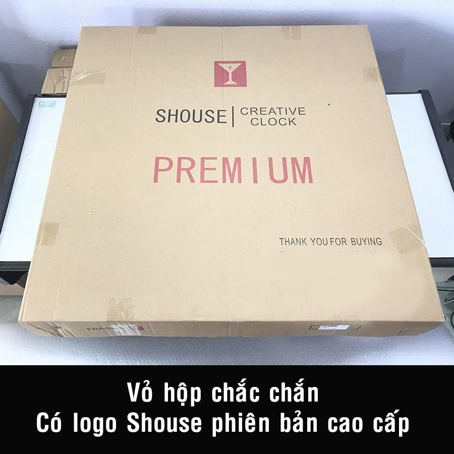 Đồng Hồ Trang Trí Treo Tường Nghệ Thuật Cao Cấp Shouse A23 hiện đại 3D kích cỡ lớn đẹp kim trôi treo phòng khách