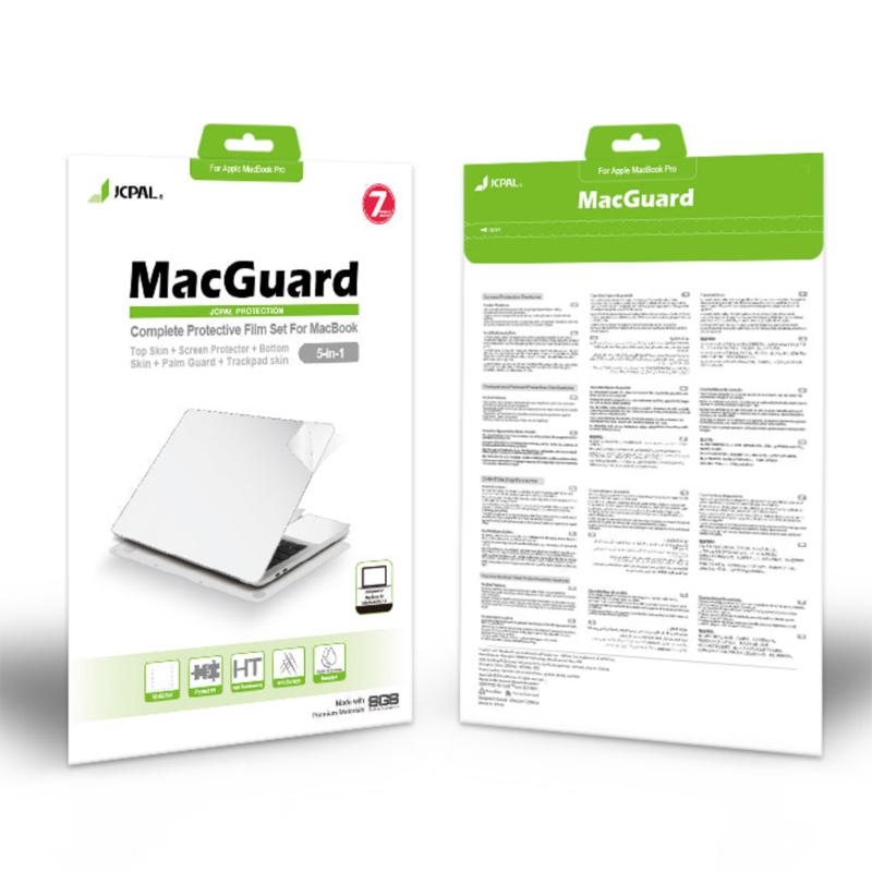 Bộ dán Full JCPAL MacGuard 5 in 1 cho Macbook Air 13'' (2018/2019/2020) - Hàng chính hãng