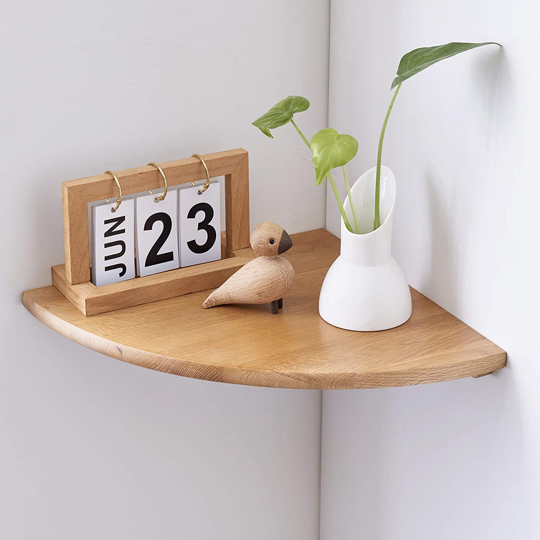 1 kệ treo tường góc 90 gỗ thông treo tường kệ  để đồ trang trí cây cảnh tiết kiệm không gian