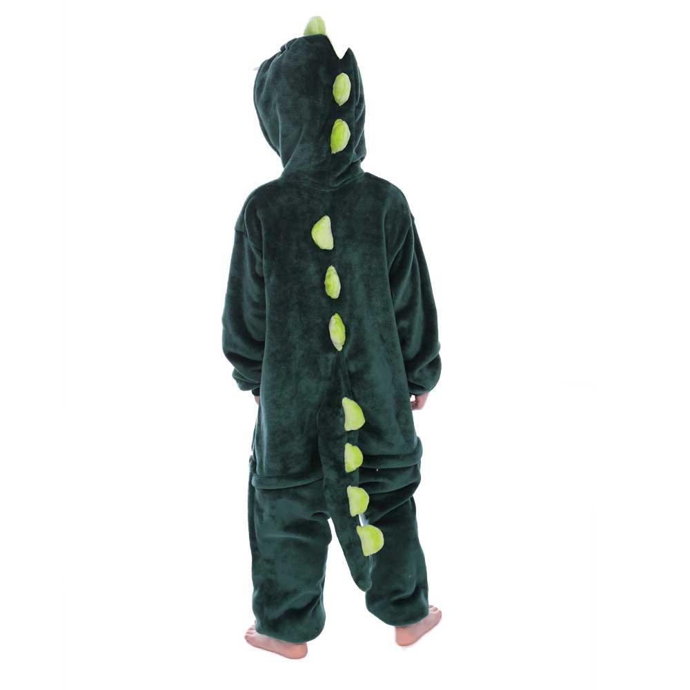 Bộ đồ thú Khủng Long xanh liền thân lông mịn Pijama dành Cho Người Lớn và Trẻ Em Đầy Đủ Các Kích Cỡ kiểu dáng Động Vật Hoạt Hình Cosplay