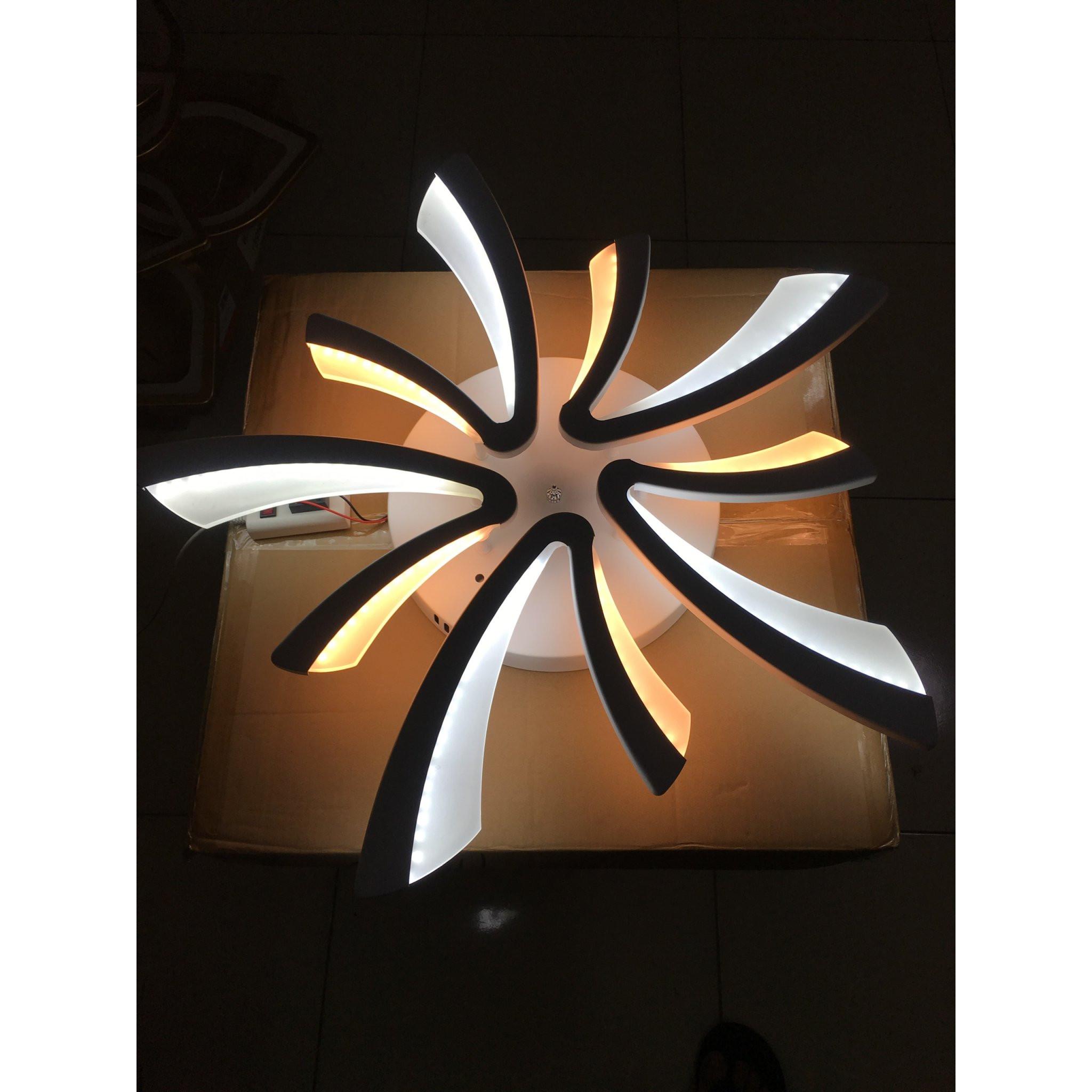 Đèn mâm sát trần led meka 3 chế độ ánh sáng + tặng kèm điều khiển từ xa
