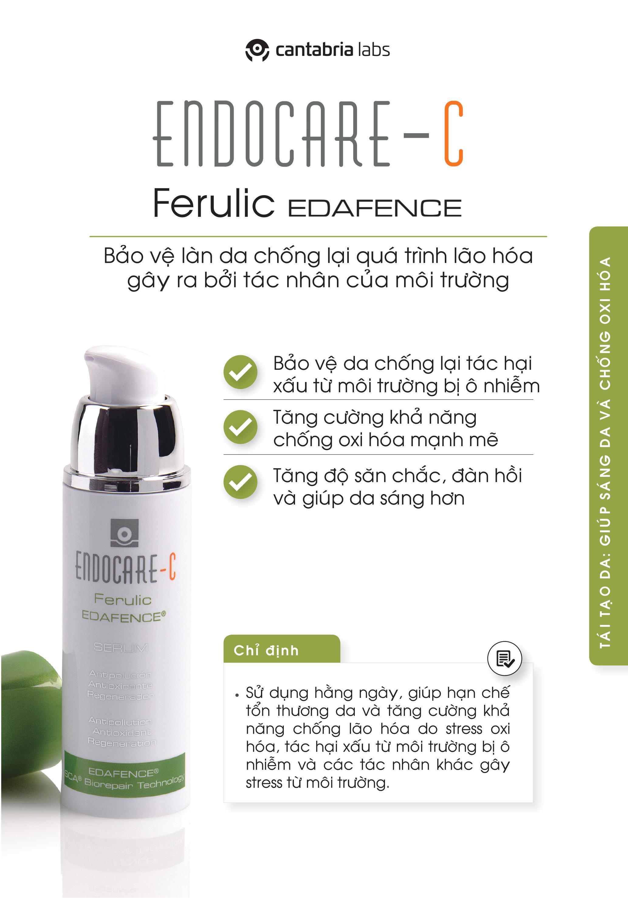 Tinh chất làm sáng và đều màu da Endocare - C Ferulic Edafence 30ml (Nhập khẩu)