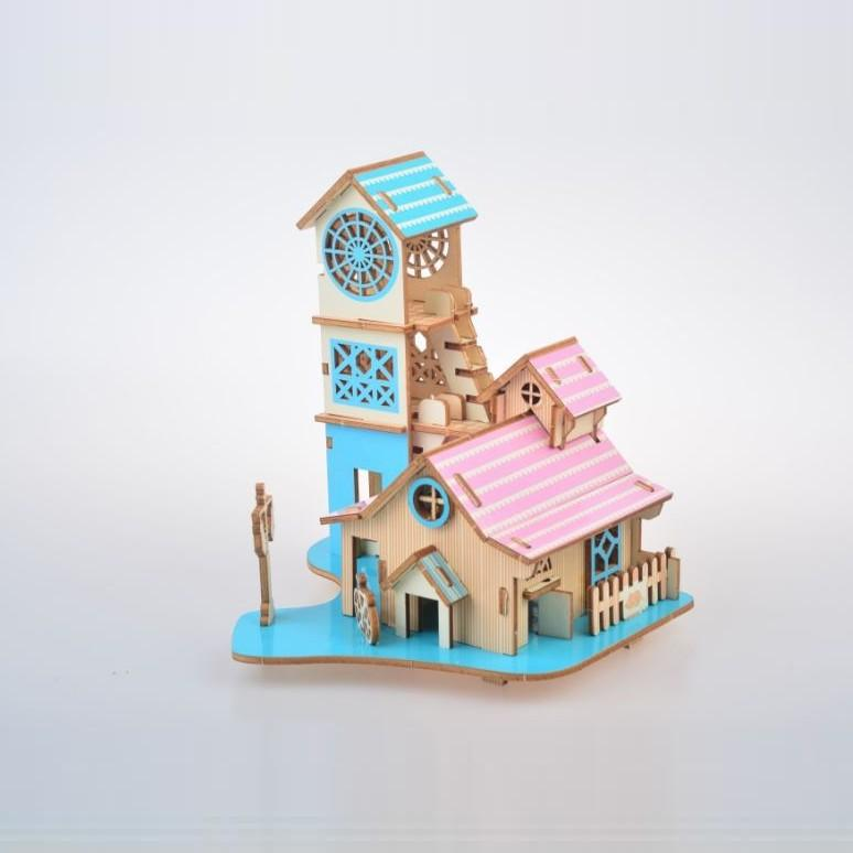 Đồ chơi lắp ráp gỗ 3D Mô hình Reverside Villa Laser XE-G054H