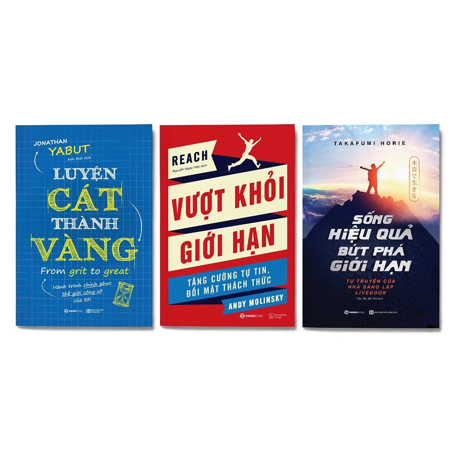 Combo 3 cuốn: Luyện cát thành vàng + Sống hiệu quả, bứt phá giới hạn + Vượt khỏi giới hạn