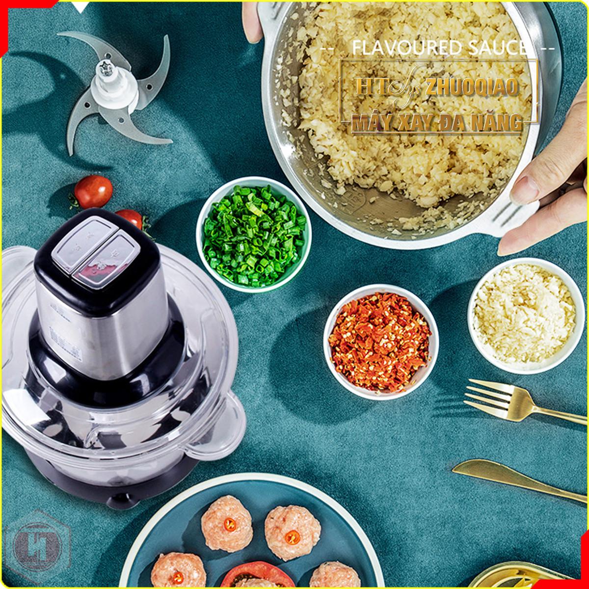 Máy xay thịt gia đình đa năng - HT SYS - ZHU0QIAO - 300W - 2L -4 lưỡi - Máy xay thịt , xay tỏi ớt , xay rau củ quả - Hàng Nhập Khẩu