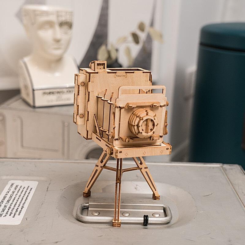 Đồ chơi lắp ráp gỗ 3D Mô hình Máy chụp hình Cổ điển TG403