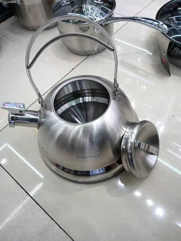 Bộ nồi Inox 6 sản phẩm Kaisa Villa, gồm 4 nồi, 1 ấm đun nước và 1 chảo, model KV-6666