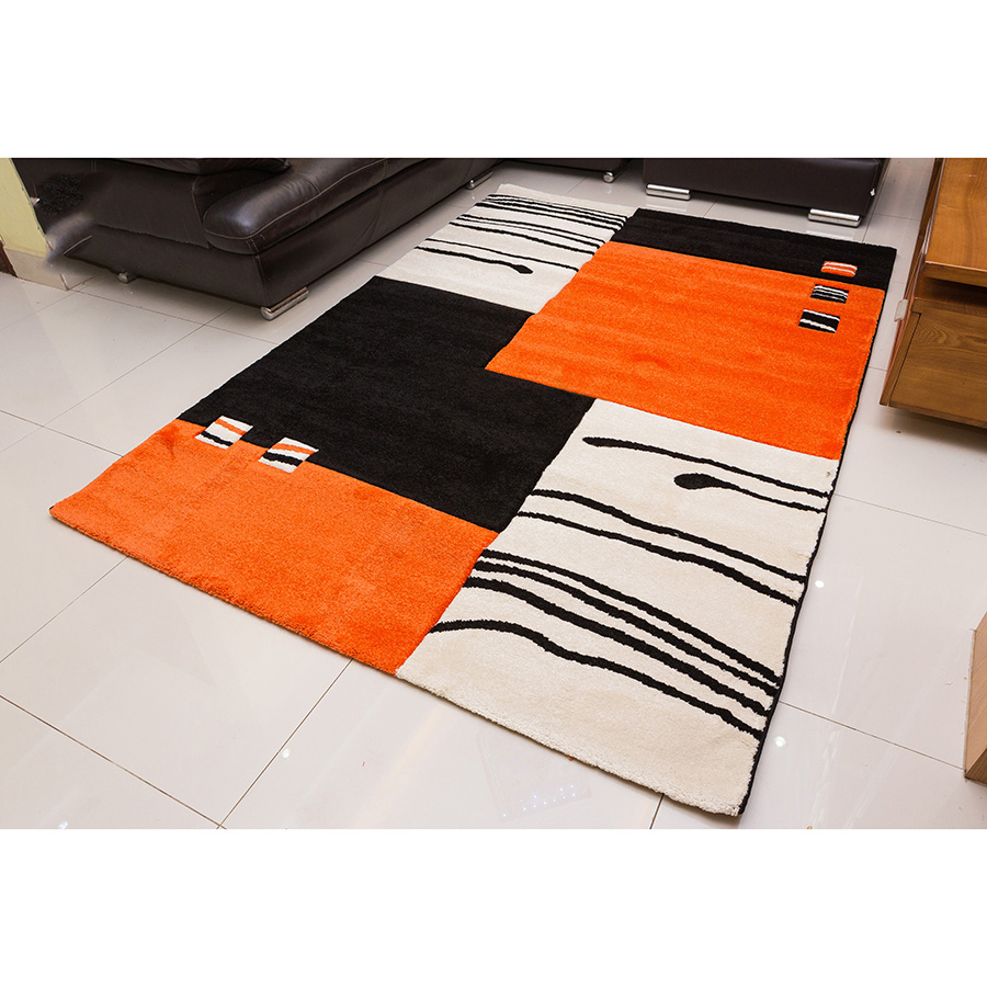 Thảm Trang Trí cao cấp nhập khẩu Đức California 103 Black Orange