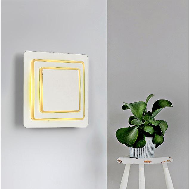 Đèn gắn tường hình vuông 3 tầng xoay 180 độ ( Led 3 chế độ màu)