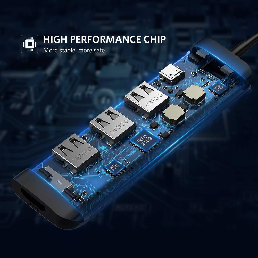 Bộ chuyển đổi đa năng USB type C 6 in 1 UGREEN CM136 80132 - Hàng chính hãng