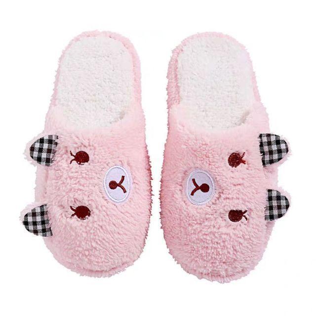 2M04 Dép bông chà heo form chật 1 size giầy thể thao nữ thời trang đế cao su đi làm đi chơi trong nhà êm chân