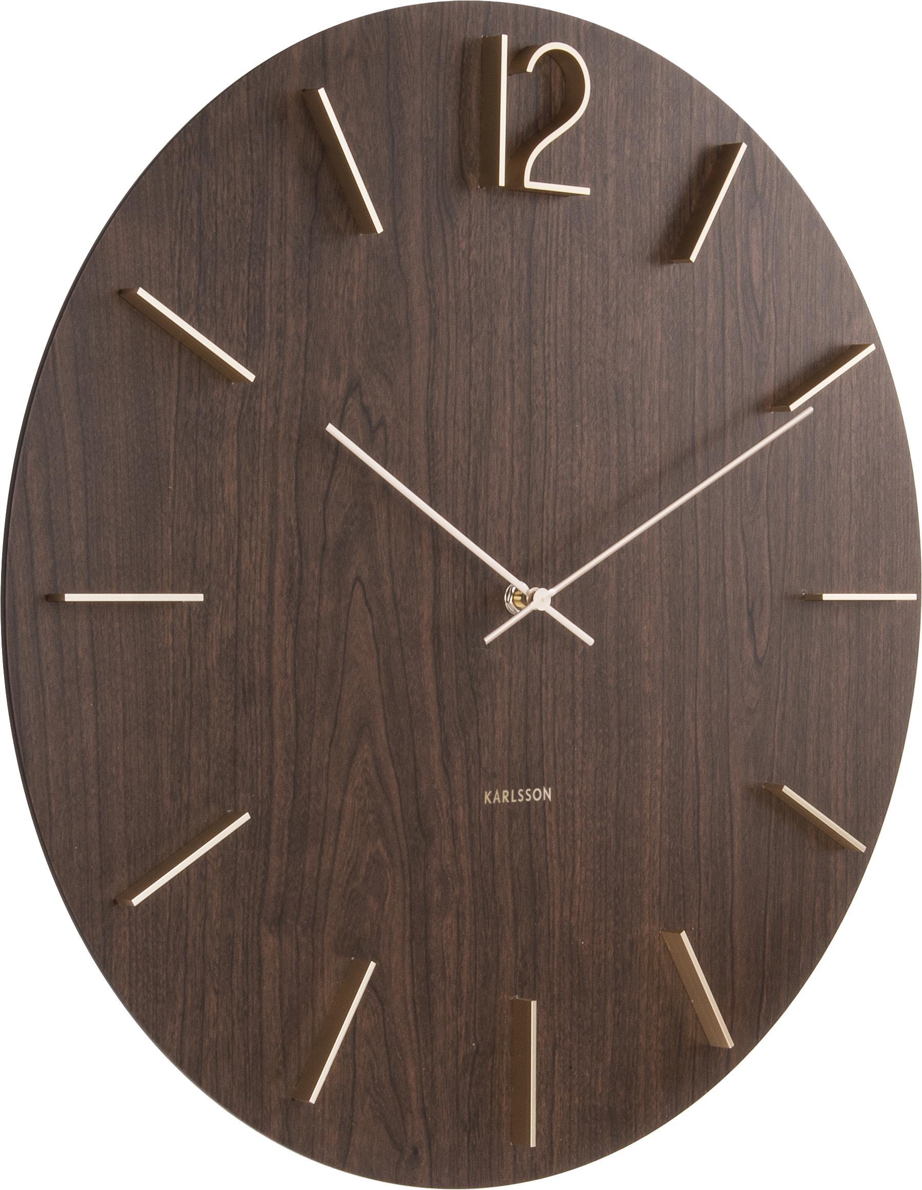 Đồng hồ gỗ treo tường chất liệu gỗ mdf máy kim trôi thiết kế in theo yêu cầu decor trang trí nhà và quán cafe