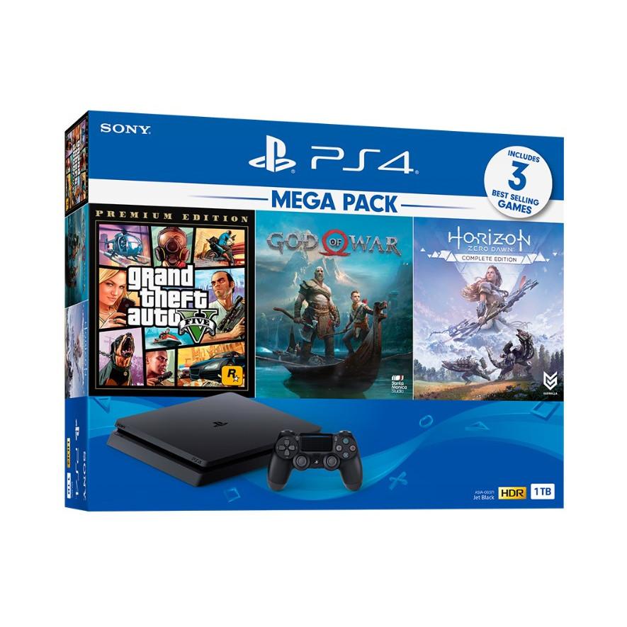 Bộ Máy Chơi Game Playstation PS4 Slim 1TB Model CUH-2218B MEGA PACK 2 - Hàng Chính Hãng