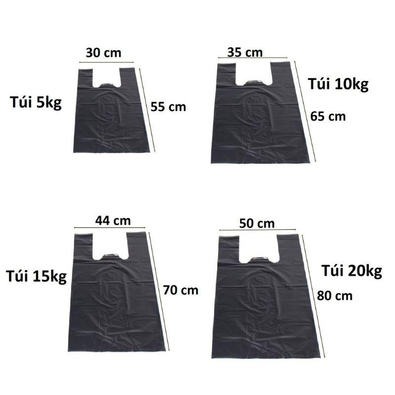 Túi nilon đen các loại kích thước dẻo dai