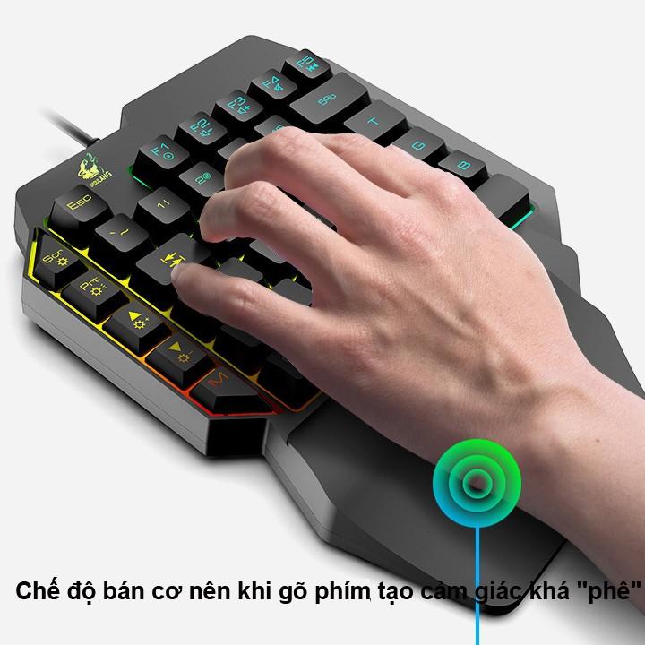 Bàn phím giả cơ FREE WOLF K15 chơi game - hàng nhập khẩu