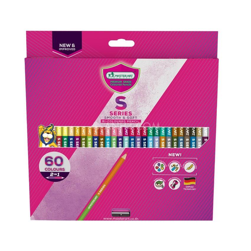 Bộ chì 2 đầu 60 màu MASTER ART S-SERIES ( Thái Lan)