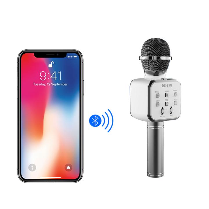 Micro Hát Karaoke Không Dây Kết Nối Bluetooth Giao màu ngẫu nhiên