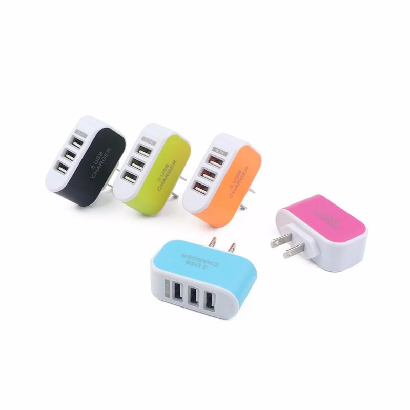 Củ Sạc 3 Cổng USB 3.1A đa năng, tiện dụng - giao màu ngẫu nhiên