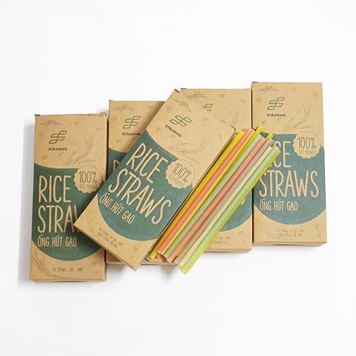 Combo 5 hộp ống hút gạo Rice Straws(loại có màu hoặc không màu)