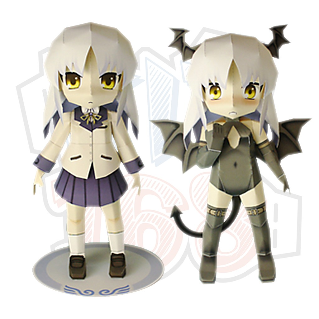 Mô hình giấy Anime Game chibi cute Rika - Angel Beats