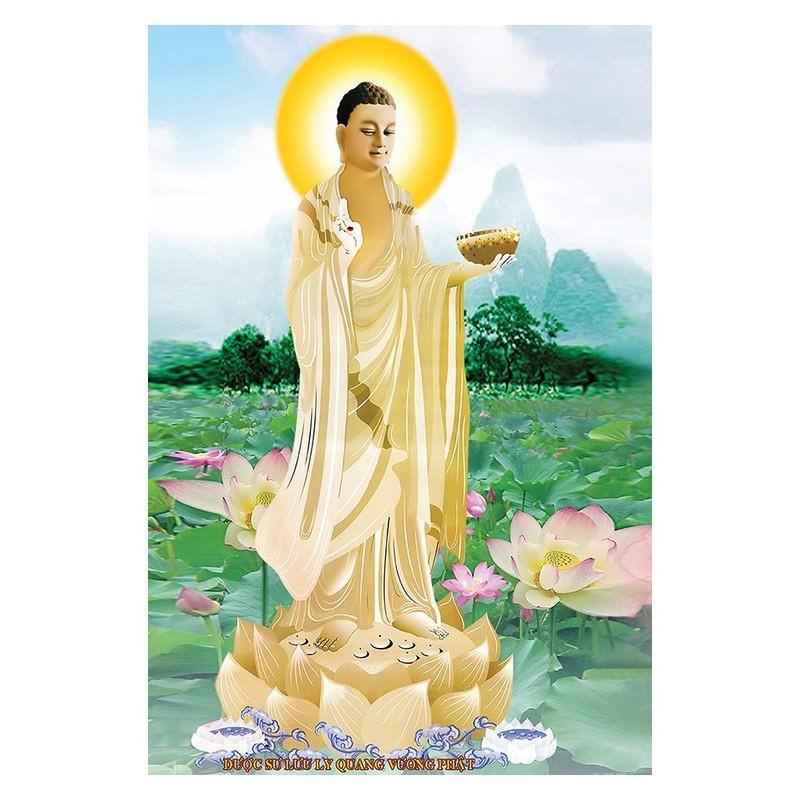 Tranh Phật Giáo Dược Sư Lưu Ly Quang Vương Phật 2106
