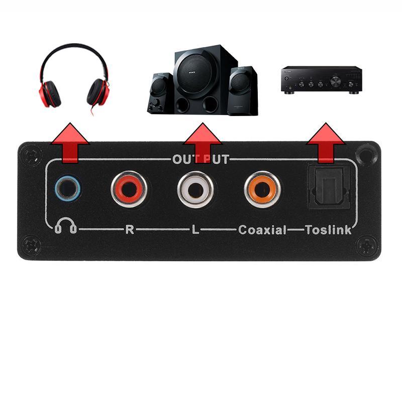 Bộ chuyển quang (optical) sang audio AV, có nút điều chỉnh âm lượng