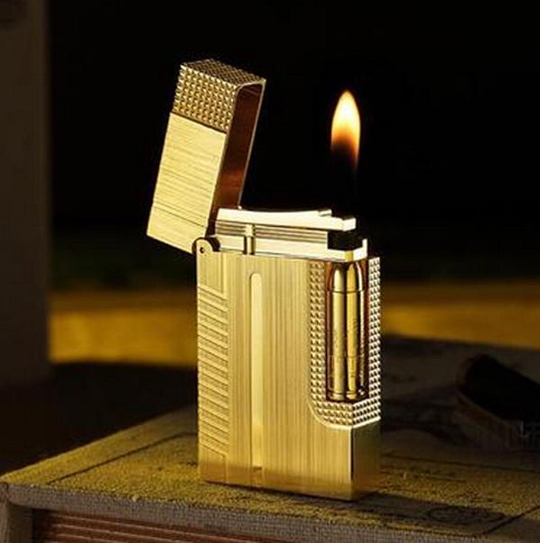 Combo Hộp Quẹt Bật Lửa Gas Đá DP-007 Xước Khắc Họa Tiết Cao Cấp + Tặng Bình Gas Chuyên Dụng Cho Bật Lửa Gas Đá