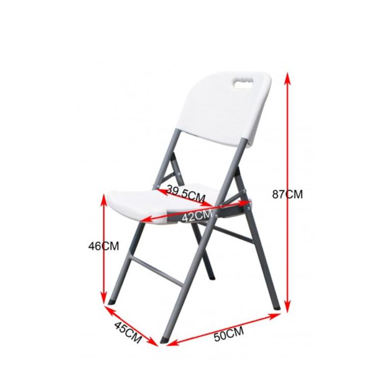 Bàn ghế xếp 70x152x75 cm và 6 ghế (kích thước đóng gói bàn 70x75x8 cm và 6 ghế 110x48x34 cm)