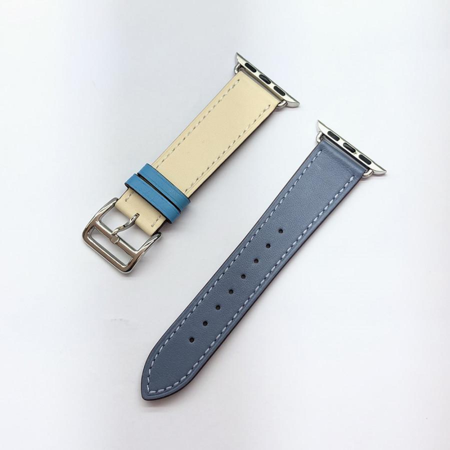 Dây đeo thay thế dây da Apple watch 2 màu - kakapi dành cho size 38mm/40mm