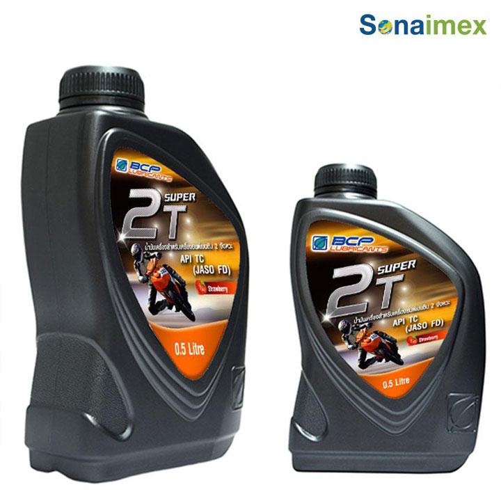 Nhớt xe 2 thì Thơm Mùi Dâu Thái Lan chất lượng cao BCP SUPER 2T – TC/FD – 0.5 Lít