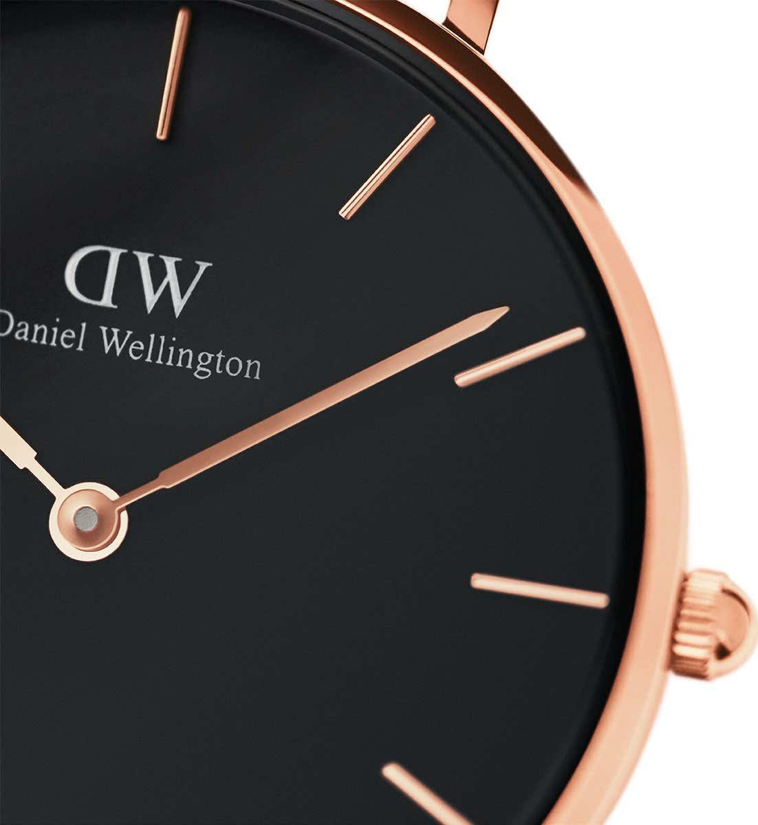 Đồng hồ nữ DANIEL WELLINGTON PETITE READING ROSE BLACK 32MM DW00100167