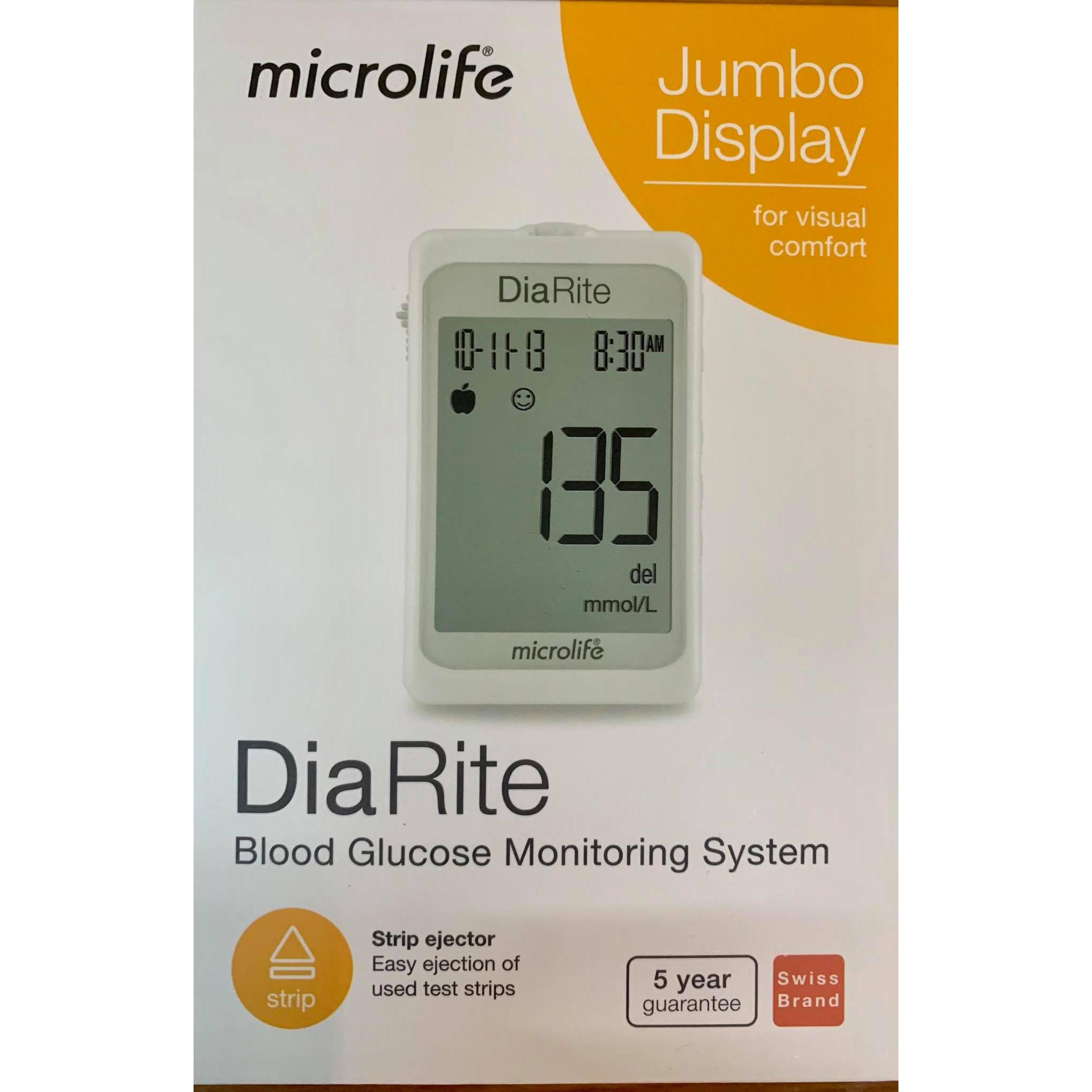 Máy đo đường huyết Microlife DiaRite BGM