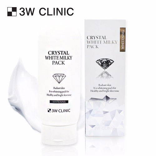 Kem kích trắng 3W Clinic Crystal White Milky Pack