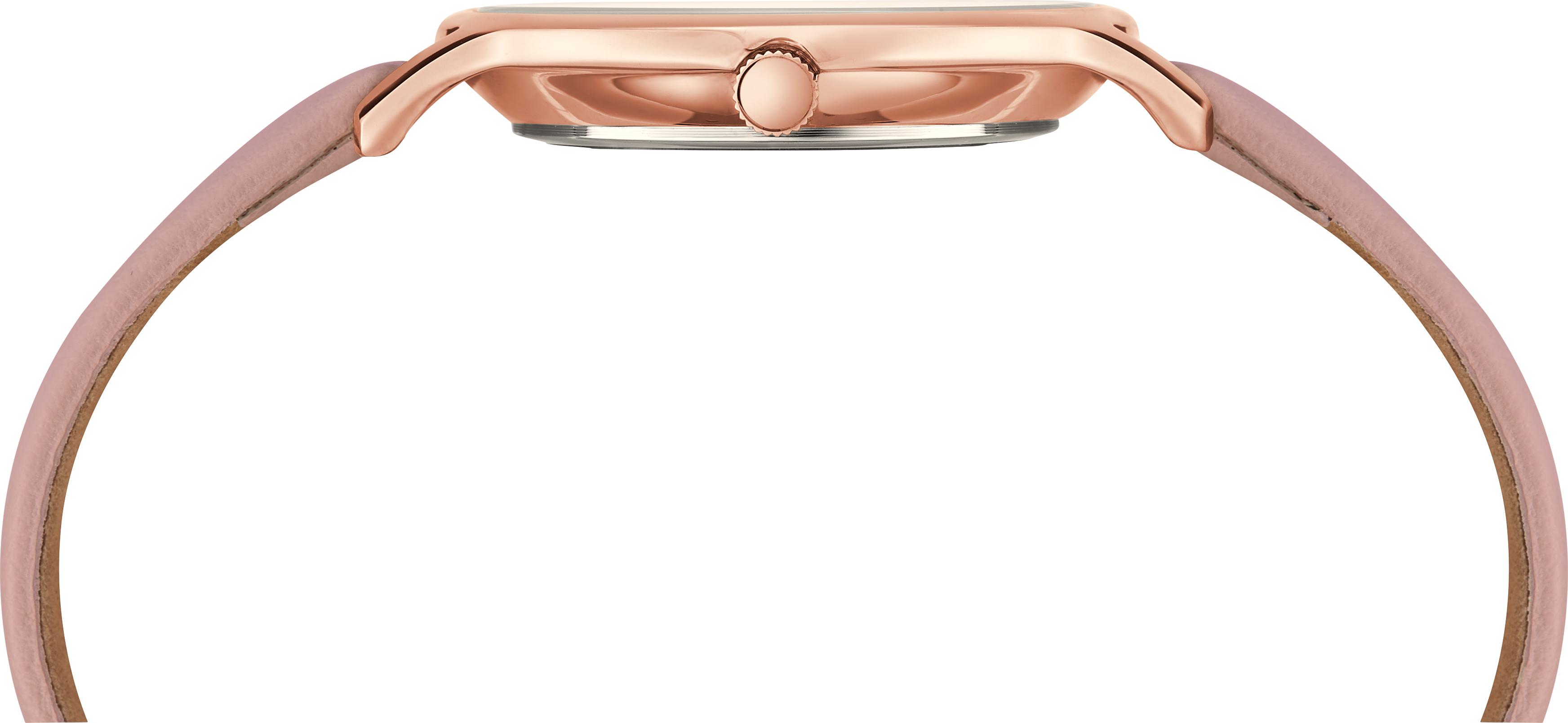 Đồng hồ Dây Da Nữ Timex Metropolitan 34mm Rose Gold Case MOP Dial Blush Leather Strap - TW2T36100