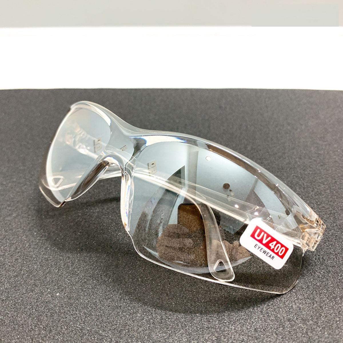 Kính bảo hộ mắt gọng và tròng trong suốt chống bụi bẩn vi khuẩn cao cấp