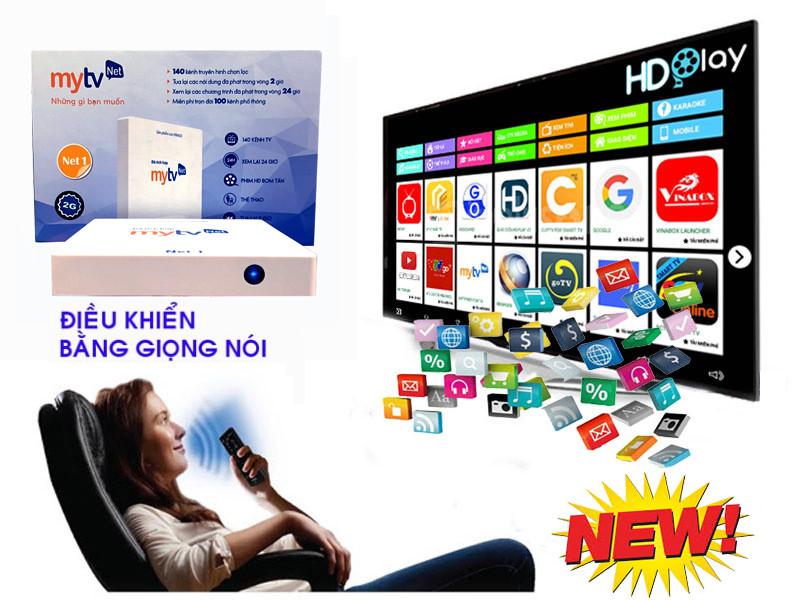 Android tivi Box MyTV NET 2GB bản  2019 4K utra, truyền hình bản quyền - CHÍNH HÃNG