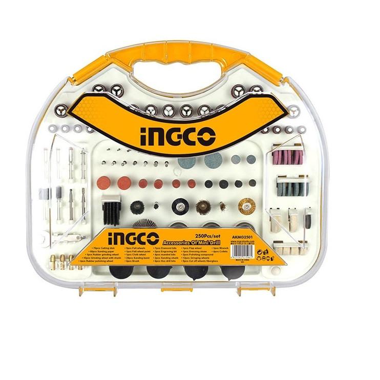 Bộ 250 linh kiện khoan mini Ingco- AKMG2501