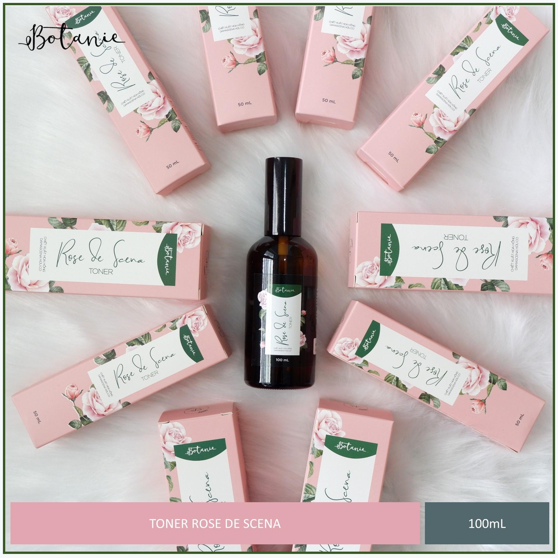 Toner Rose De Scena - Chiết xuất hoa hồng Damascena hữu cơ - Dạng Xịt (100ml) - Dịu nhẹ, không chứa cồn
