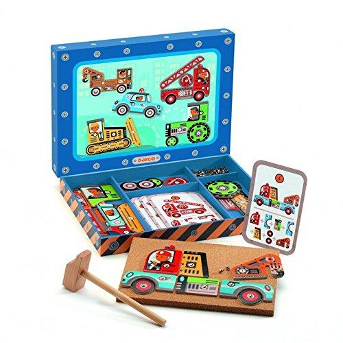 Đồ chơi lắp ghép xe ô tô bằng gỗ cho bé