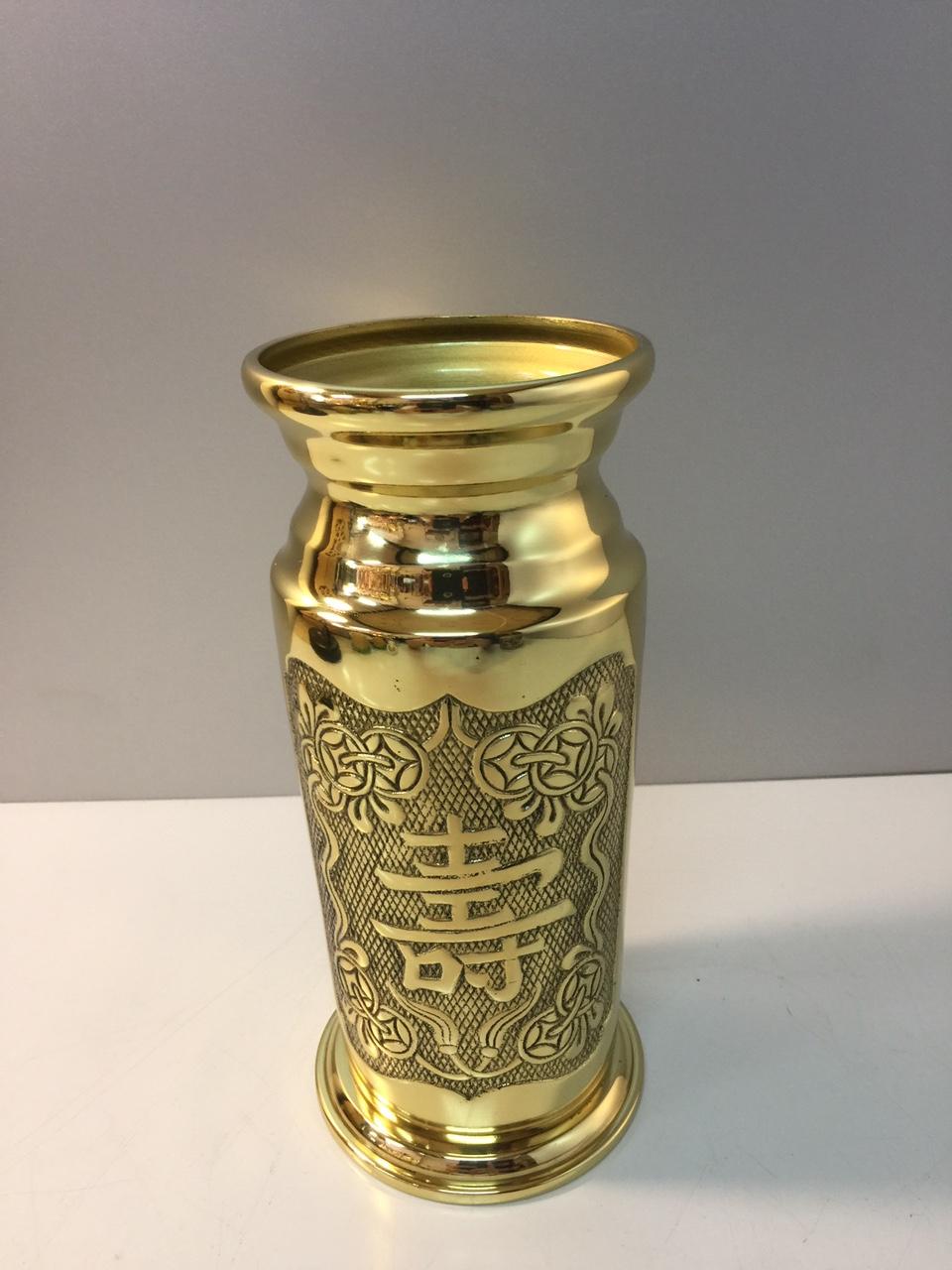 Đồ thờ cúng bằng đồng, Ống hương bằng đồng vàng (dành cho bàn thờ và khám thần tài , Bàn thờ Phật )  phong thuỷ , bộ thờ cúng