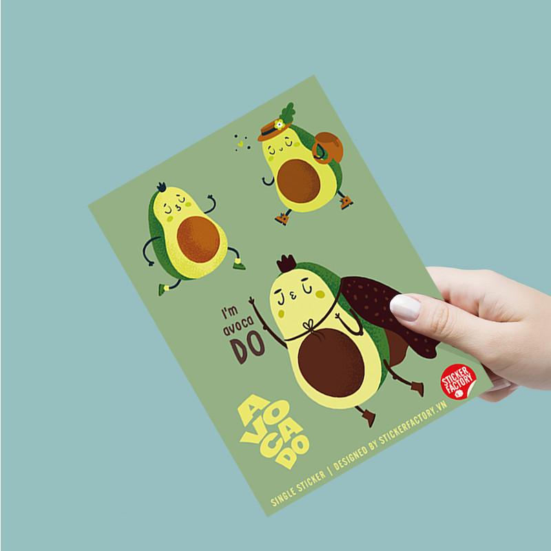 Avocado Bé Bơ - Single Sticker hình dán lẻ