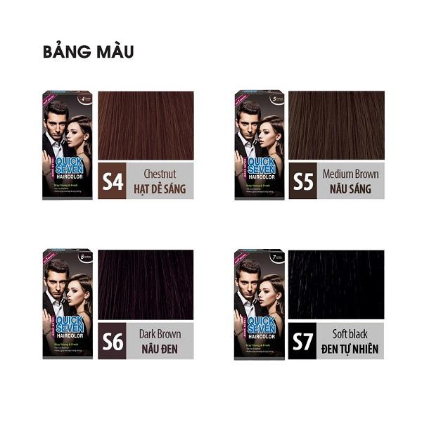 Nhuộm phủ bạc nhanh 7 phút Color Show QUICK SEVEN Hair Color (60g + 60g) Hàn Quốc