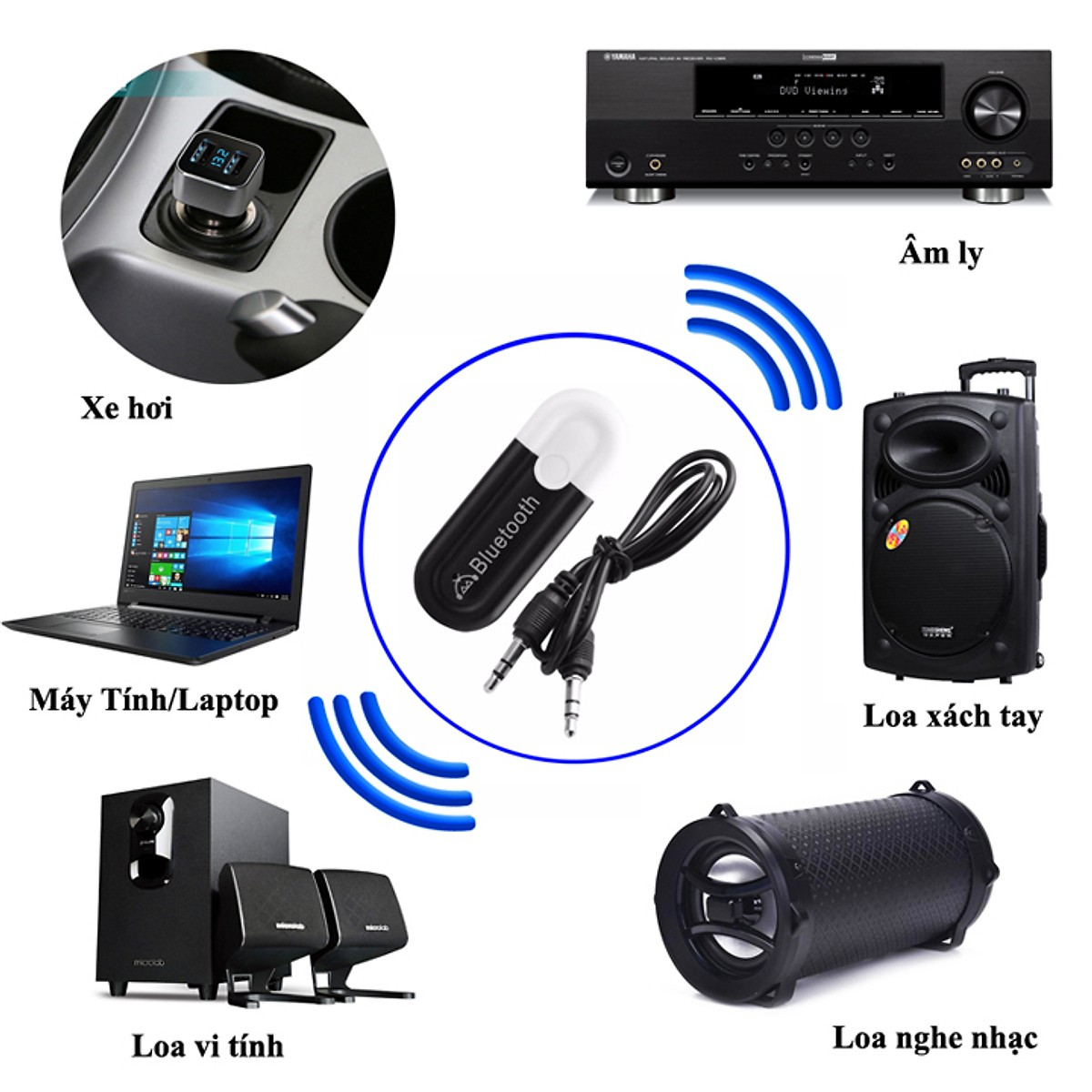 USB Bluetooth Cho Loa,  ÂM ly, Tivi HJX-001