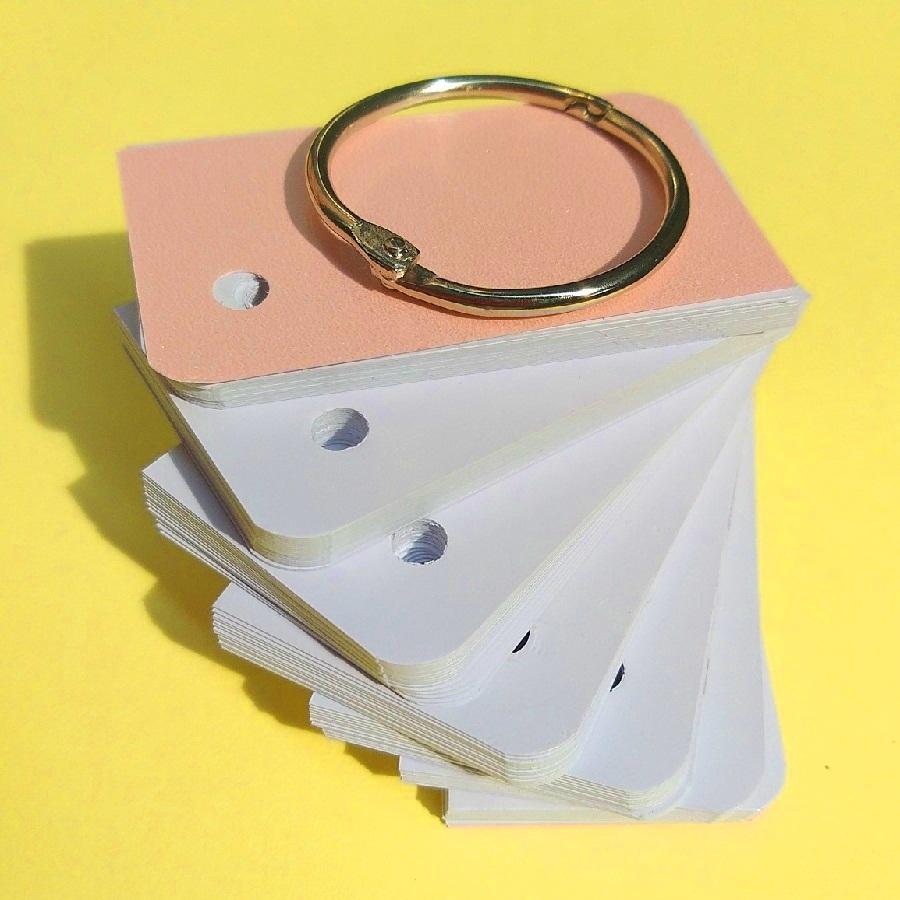 100 thẻ Flashcard Trắng học tiếng Nhật 4x7cm bo 2 góc nghệ thuật - Flashcard Phan Liên
