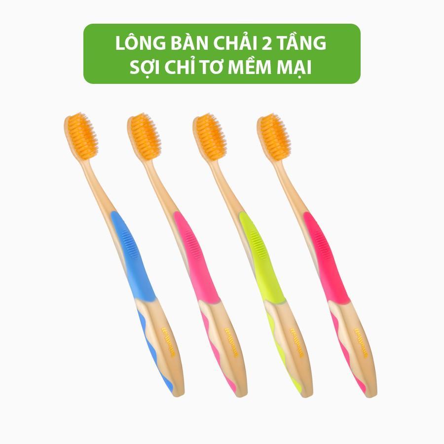 Bàn chải đánh răng EQ Tech Wellbeing bàn chải lông mềm nhập chính hãng khẩu Hàn Quốc diệt khuẩn khử mùi hôi bảo vệ nướu