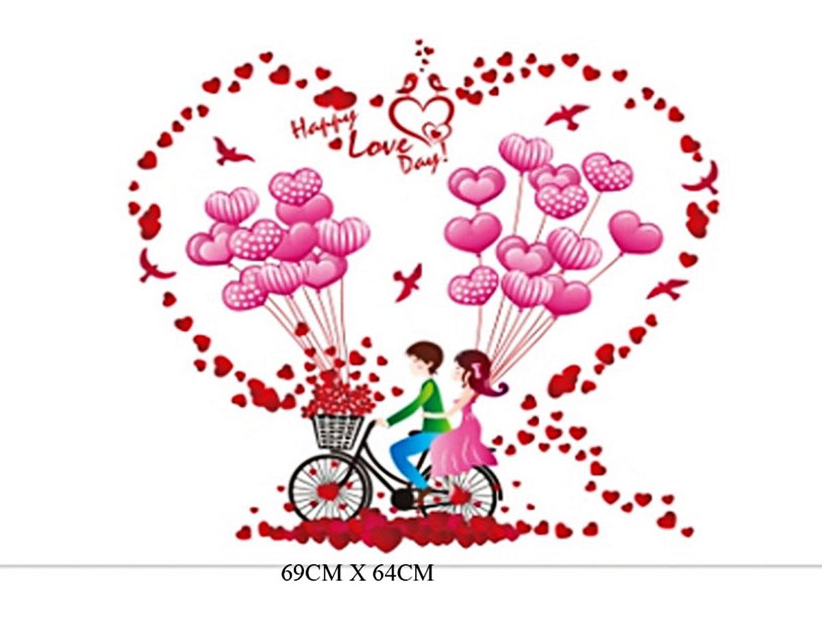 decal dán tường xe bóng tình yêu