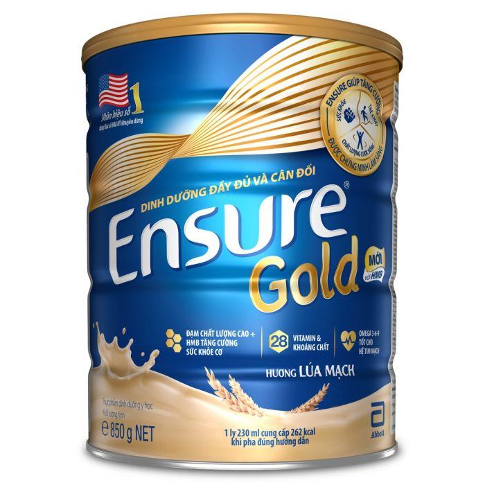 Sữa Bột Abbott Ensure Gold Hương Lúa Mạch - 850g