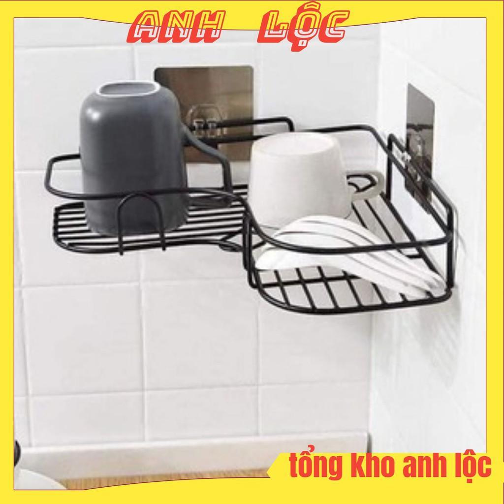 Kệ sắt chữ v để đồ góc nhà tắm